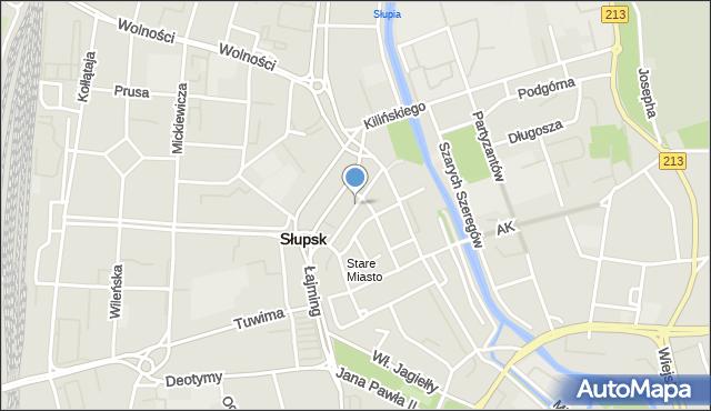 Słupsk, Murarska, mapa Słupska