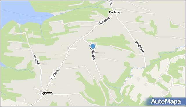 Dobczyce, Myśliwska, mapa Dobczyce