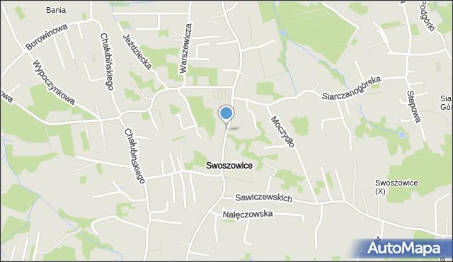 Kraków, Myślenicka, mapa Krakowa