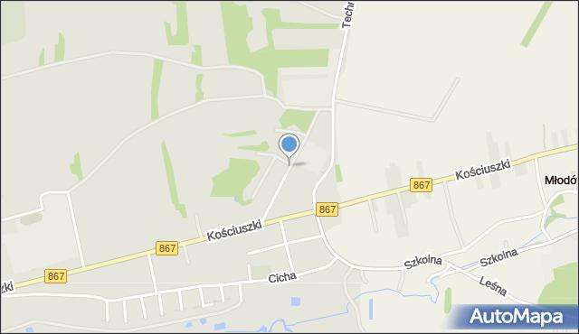 Lubaczów, Myśliwska, mapa Lubaczów