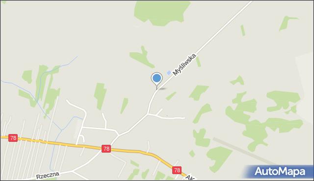 Poręba powiat zawierciański, Myśliwska, mapa Poręba powiat zawierciański