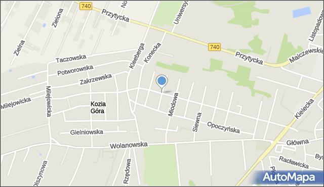 Radom, Mylna, mapa Radomia