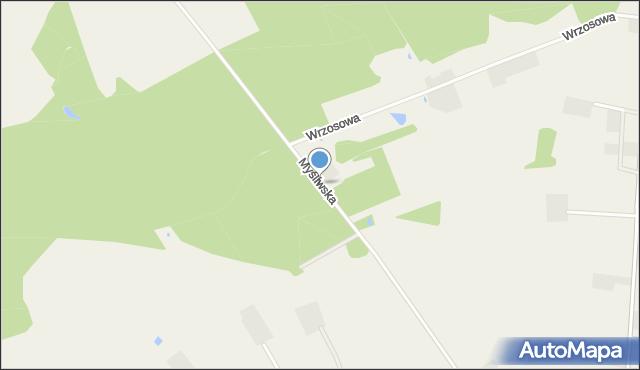 Wyszecino, Myśliwska, mapa Wyszecino
