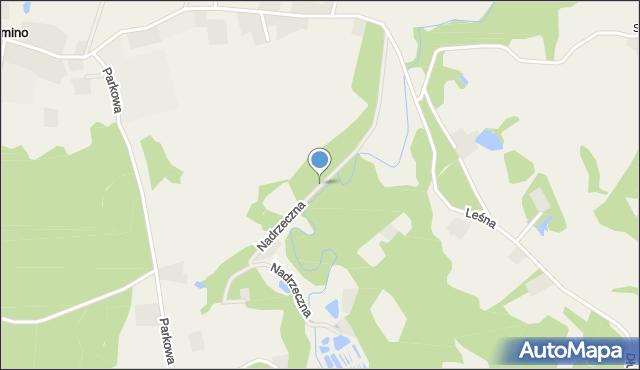 Barłomino, Nadrzeczna, mapa Barłomino