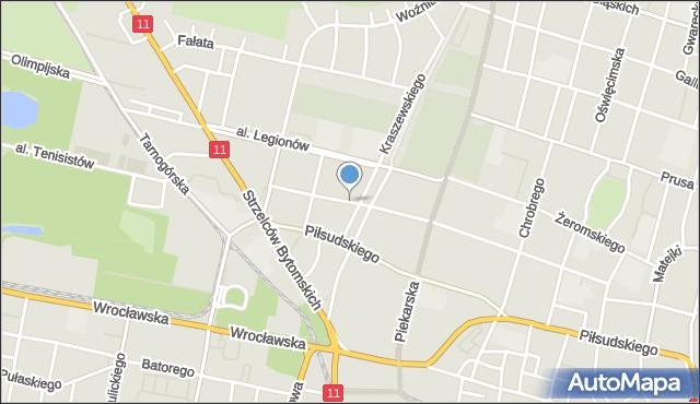 Bytom, Nawrota Franciszka, ks., mapa Bytomia