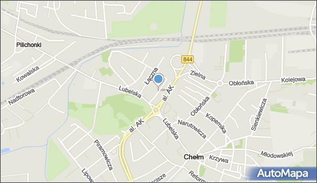 Chełm, Nadrzeczna, mapa Chełma