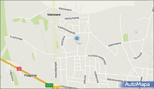 Chełm, Narcyzowa, mapa Chełma