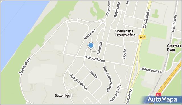 Grudziądz, Nałkowskiej Zofii, mapa Grudziądza