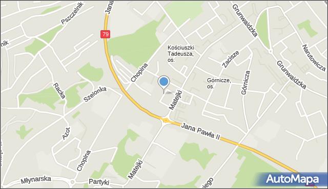 Jaworzno, Nałkowskiej Zofii, mapa Jaworzno