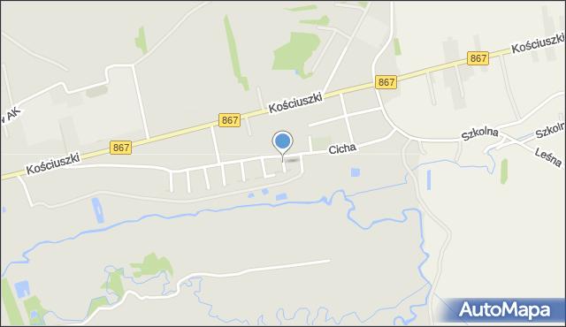 Lubaczów, Nałkowskiej Zofii, mapa Lubaczów