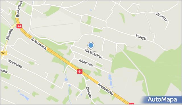 Mikołów, Na Wzgórzu, mapa Mikołów