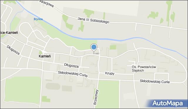 Piekary Śląskie, Nankera, bp., mapa Piekary Śląskie