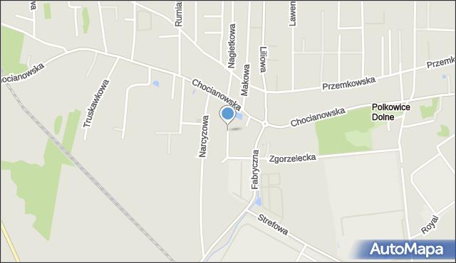 Polkowice, Nasturcjowa, mapa Polkowice