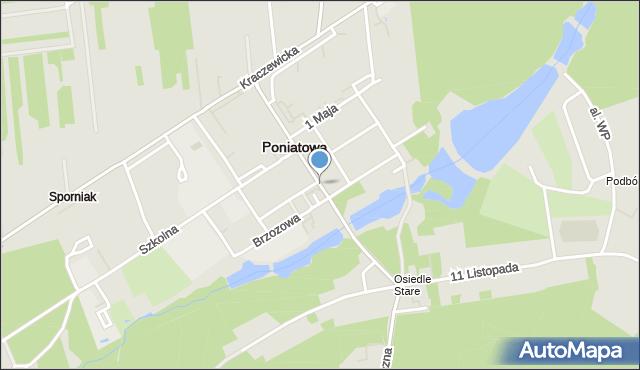 Poniatowa powiat opolski, Nałęczowska, mapa Poniatowa powiat opolski