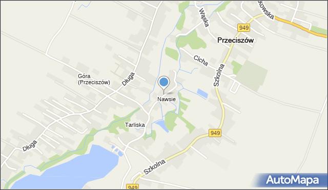 Przeciszów, Nawsie, mapa Przeciszów
