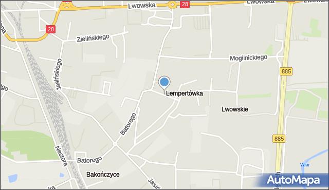 Przemyśl, Nabielaka Ludwika, mapa Przemyśla