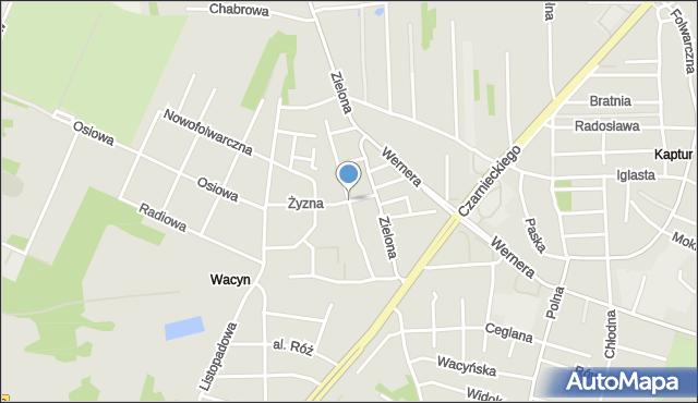 Radom, Na Stoku, mapa Radomia