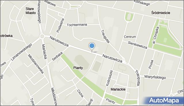 Radom, Narutowicza Gabriela, mapa Radomia
