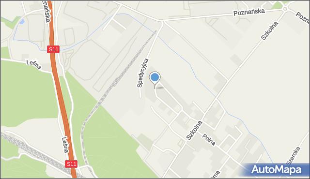 Robakowo gmina Kórnik, Narcyzowa, mapa Robakowo gmina Kórnik