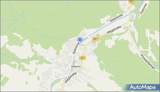 Rymanów-Zdrój, Nad Wodospadem, mapa Rymanów-Zdrój