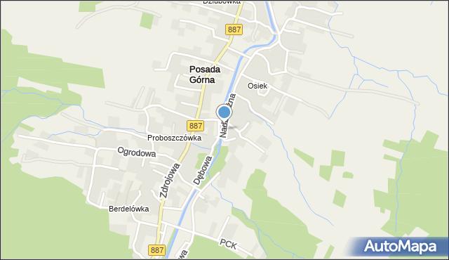Rymanów-Zdrój, Nadbrzeżna, mapa Rymanów-Zdrój