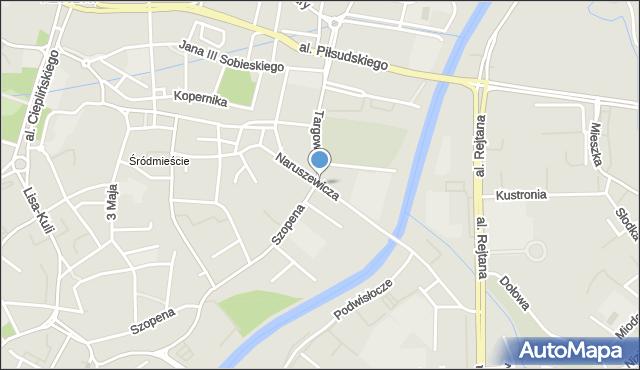 Rzeszów, Naruszewicza Adama Stanisława, mapa Rzeszów