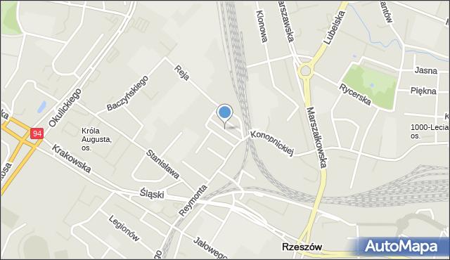 Rzeszów, Nałkowskiej Zofii, mapa Rzeszów