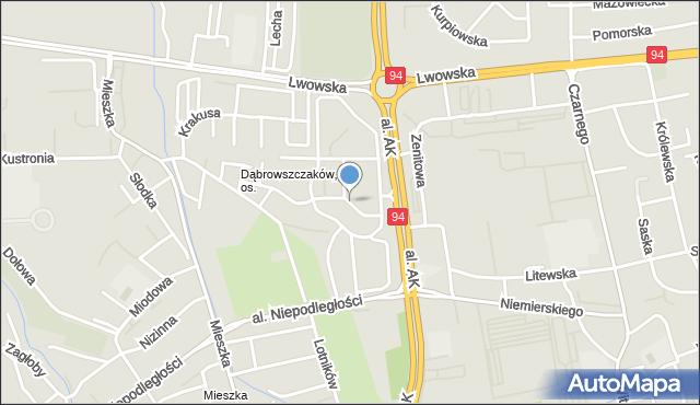 Rzeszów, Nazimka Eugeniusza, mapa Rzeszów