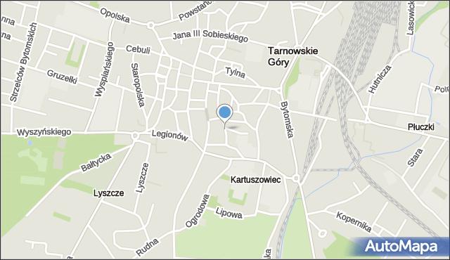 Tarnowskie Góry, Nałkowskiej Zofii, mapa Tarnowskie Góry