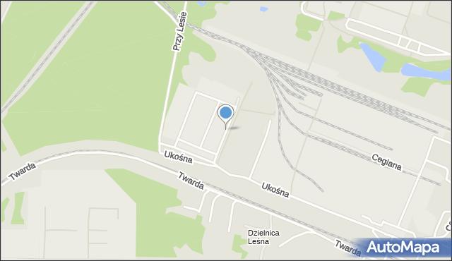 Toruń, Na Uboczu, mapa Torunia