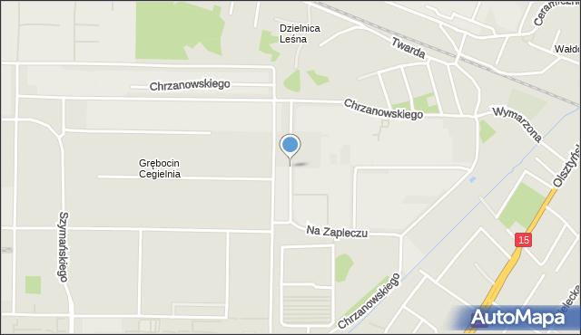 Toruń, Na Zapleczu, mapa Torunia