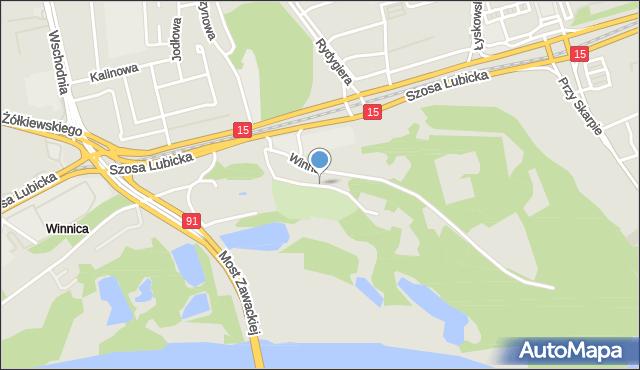 Toruń, Nad Zatoką, mapa Torunia