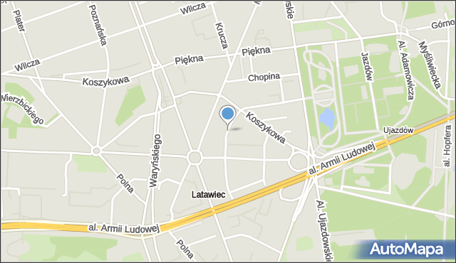 Warszawa, Natolińska, mapa Warszawy