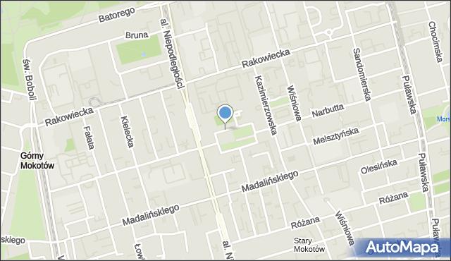 Warszawa, Narbutta Ludwika, mapa Warszawy