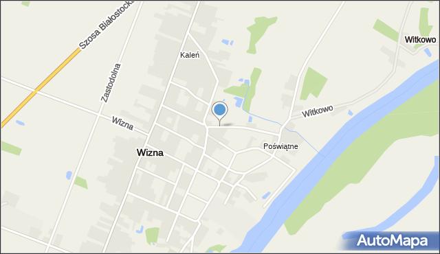 Wizna, Nadnarwiańska, mapa Wizna