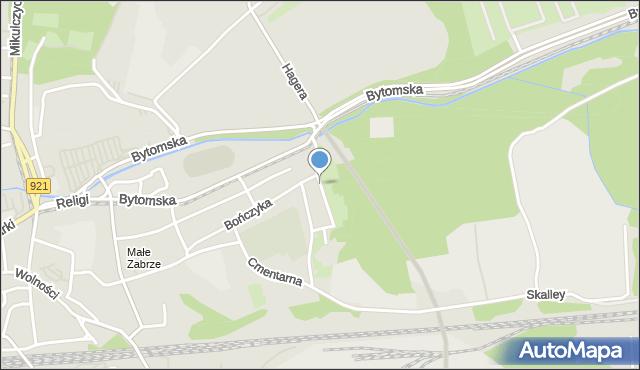 Zabrze, Na Piaskach, mapa Zabrza