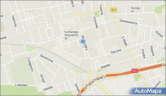 Zabrze, Nałkowskiej Zofii, mapa Zabrza