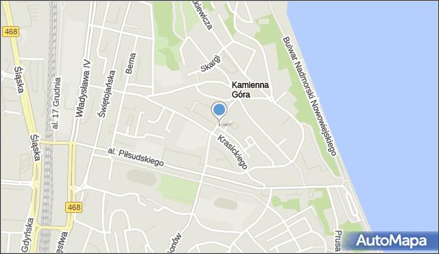 Gdynia, Necla Augustyna, mapa Gdyni