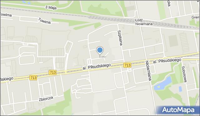 Łódź, Neonowa, mapa Łodzi