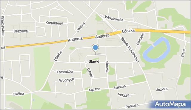 Toruń, Nenufarów, mapa Torunia