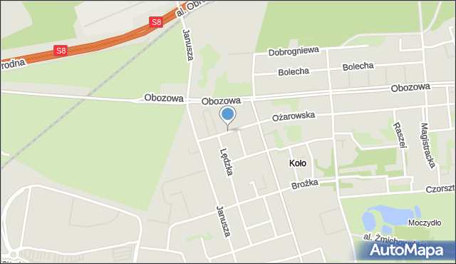 Warszawa, Newelska, mapa Warszawy