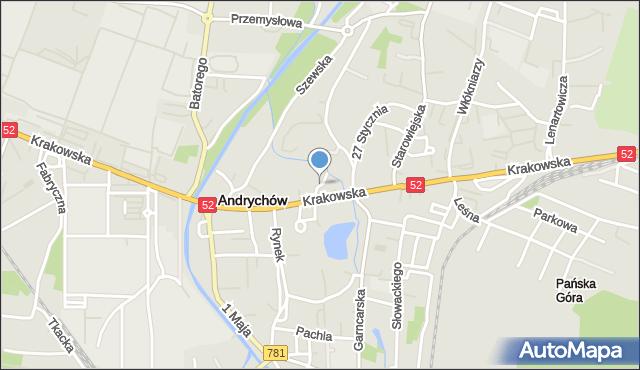Andrychów, Niecała, mapa Andrychów