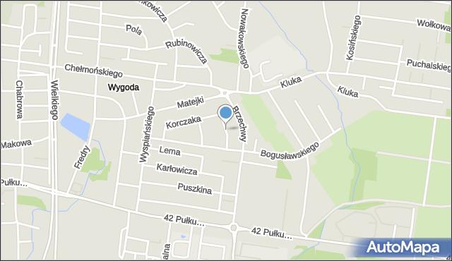 Białystok, Niemcewicza Juliana Ursyna, mapa Białegostoku