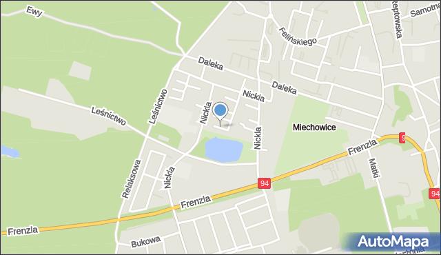 Bytom, Nickla Józefa, mapa Bytomia