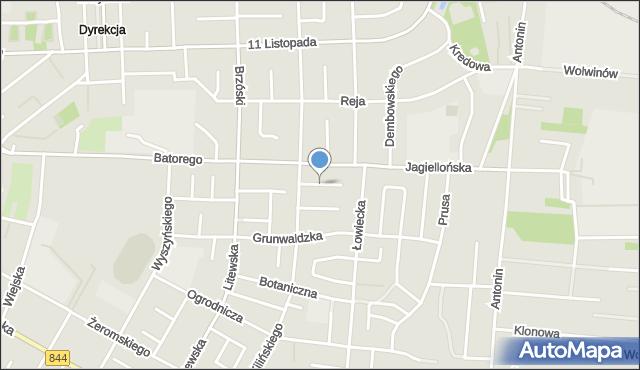 Chełm, Niecała, mapa Chełma