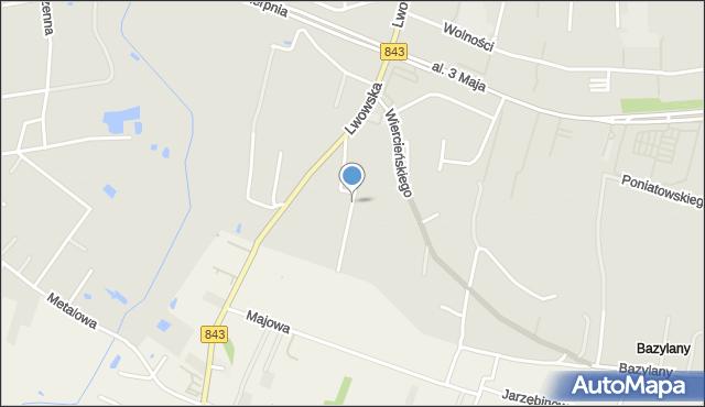 Chełm, Niemcewicza Juliana Ursyna, mapa Chełma
