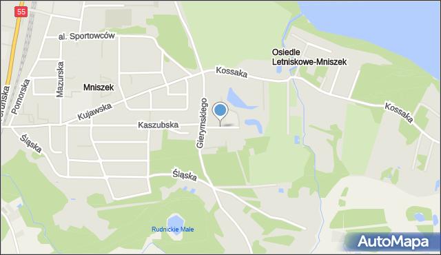 Grudziądz, Niesiołowskiego Tymona, mapa Grudziądza