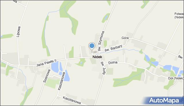 Nidek, Nidek, mapa Nidek