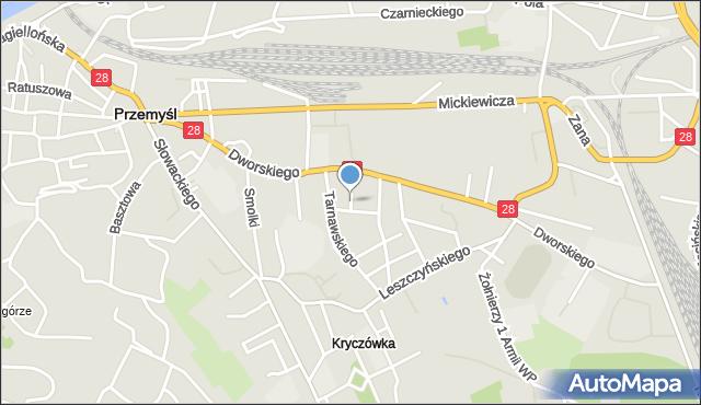 Przemyśl, Niewiadomskiego Stanisława, mapa Przemyśla