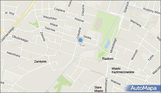 Radom, Niecała, mapa Radomia